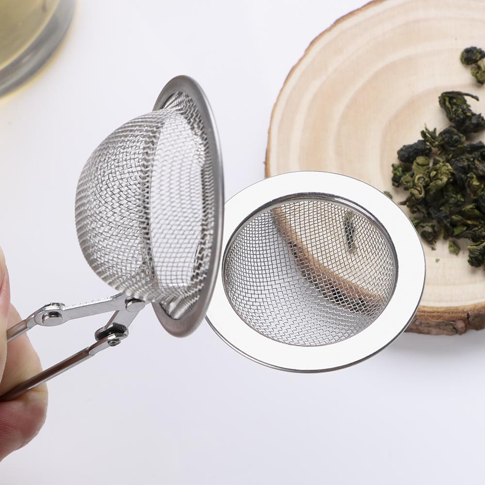 Hilife Küre Örgü Süzgeç Paslanmaz Çelik Kolu Topu Çay Demlik Mutfak Gadget Kahve Herb Spice Filtre Difüzör C19042101