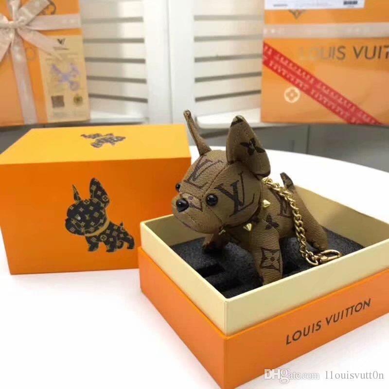 l1ouisvutt0n dernière version sac pendentif porte-clés porte-clés pendentif sac à main chien pendentif tendance mode haut de gamme édition limitée 64165
