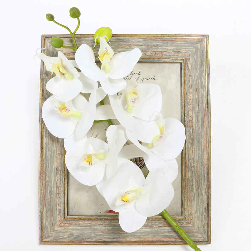 Artificial Orchid Flower 4 color Real Touch Artificial Butterfly Orchid flores artificial Wedding decoration home Festival Decor (24)