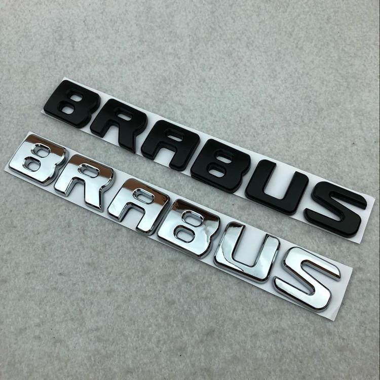 BRABUS Black Emblems Badge Decal Stickers For Benz G E S CLS GLE GLS C Class New