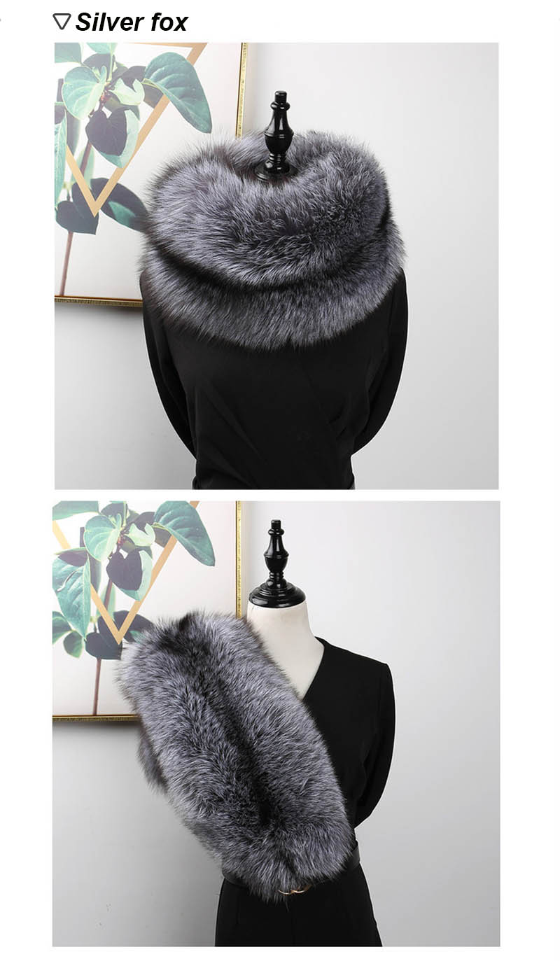 fox fur scarf silver fox 1