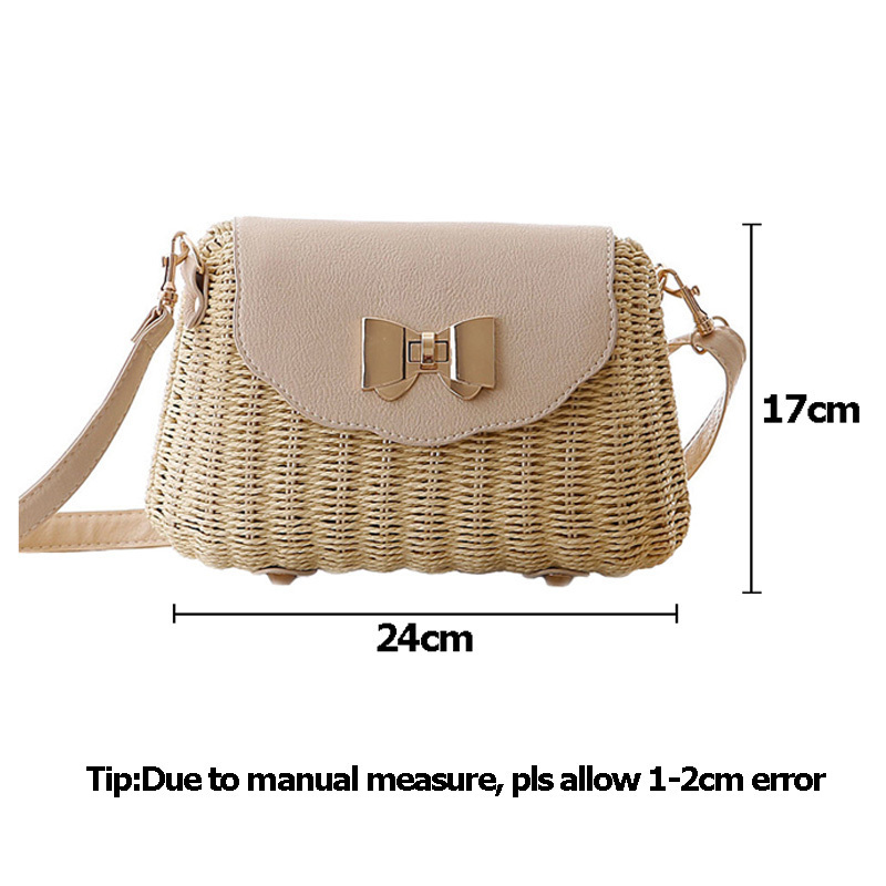 Women Straw Bag Female Bohemian Bali Rattan Beach Shoulder Bag Lady Handmade Candy Color Crossbody Bags Basket Bolsa SS3148 (15)