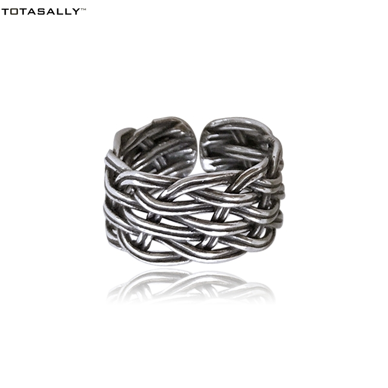 Totasally Hot Vintage Unusual Designer 100% Real 925 Sterling Silver Finger Rings For Women Cocktail Accessories Jewelry T190624