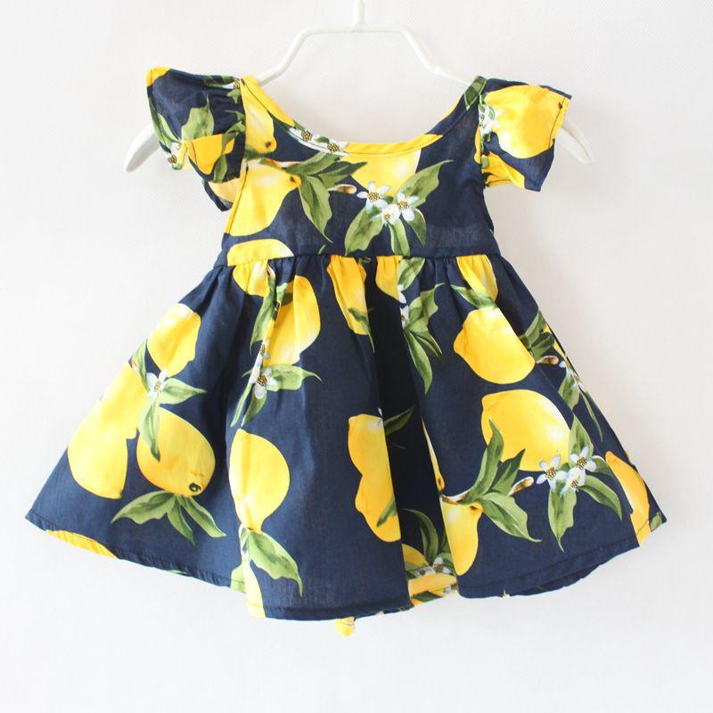 shijcc142 DG new print lemon baby girls backless dress-1