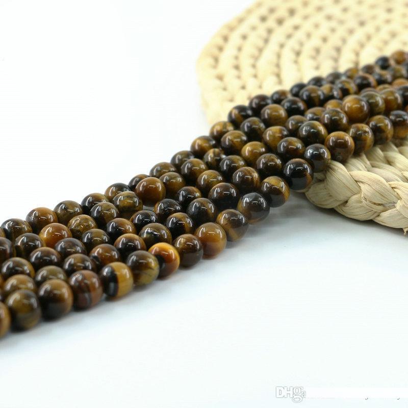 """Nature naturelle noir perles de lave pierre gemme ronde 15 /"""" 0G"""