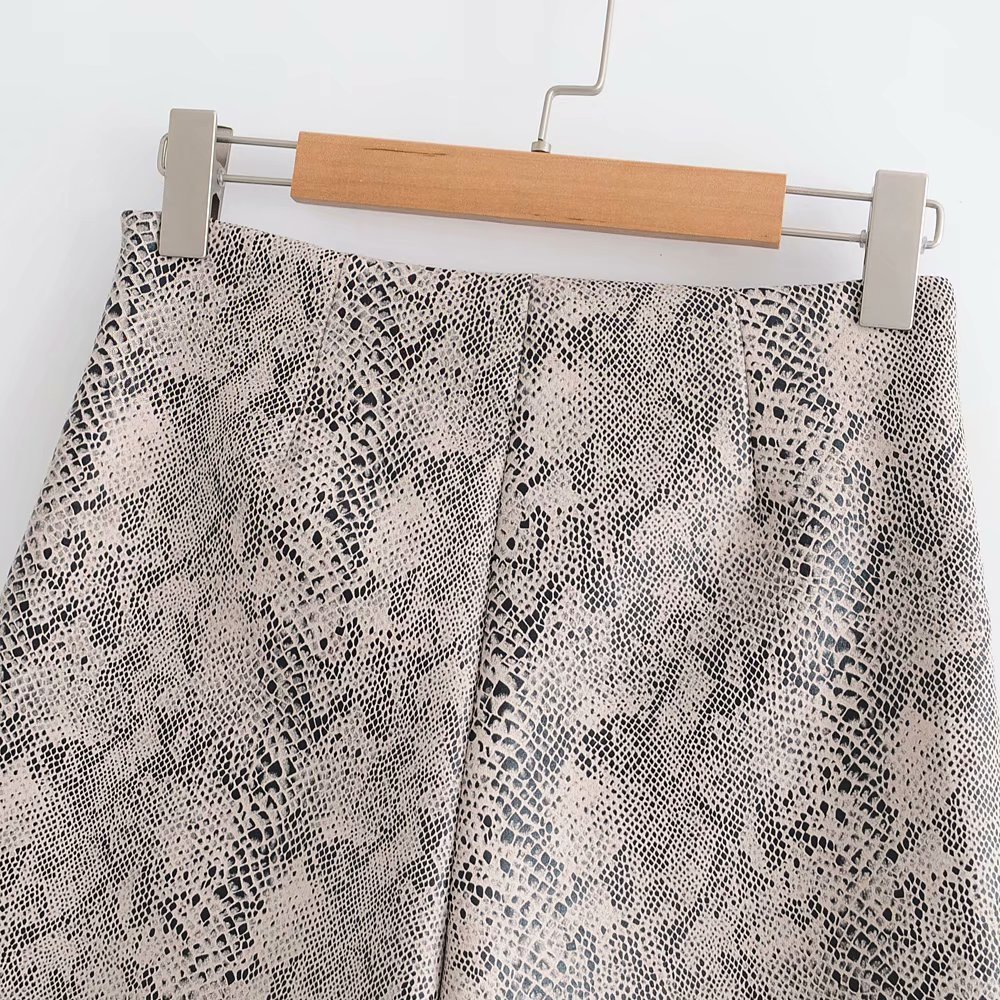 Summer High Waist Women Leopard Snake Print Korean Short Casual Ladies Sexy Skirt Shorts C19040901
