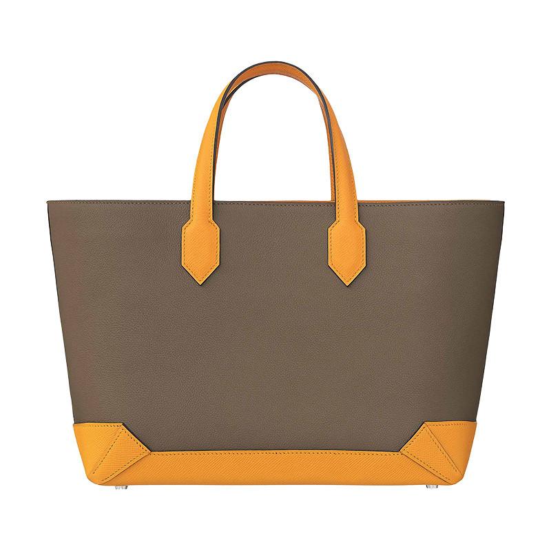 /Mermes Maxibox Cabas 30 Fashion Shopping Bag Tote Oregano/Gold Yellow H071322CKAA-BA11