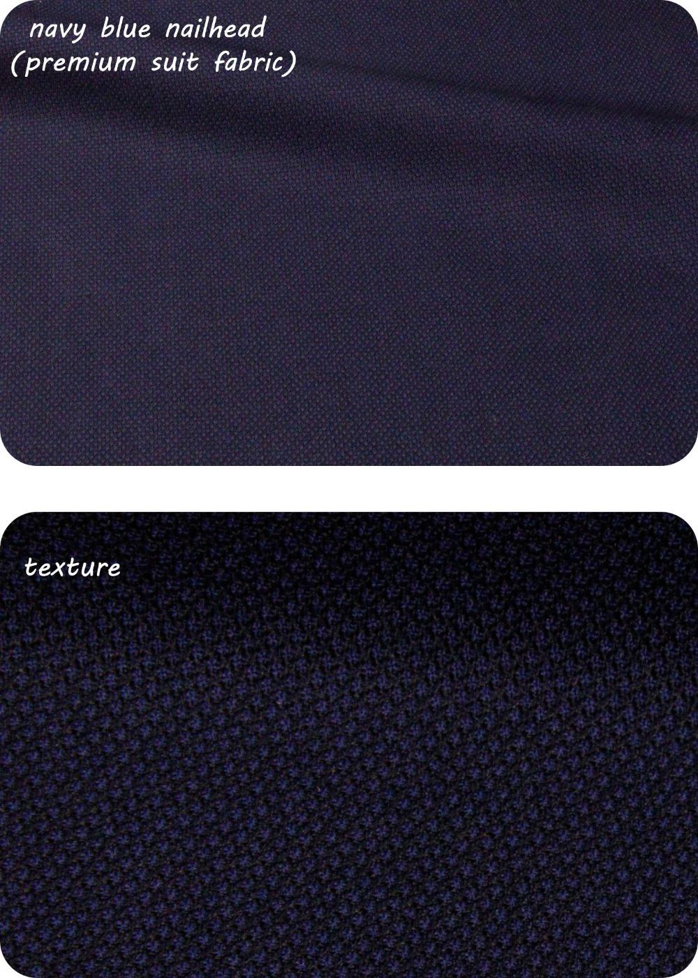 navy blue nailhead premium suit fabric