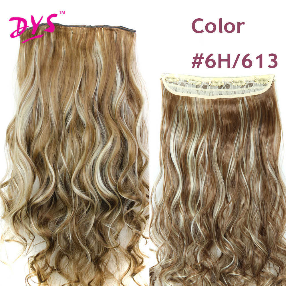 Deyngs 60CM One Piece 5 Clips in Hair Extensions For Women 34 Full Head Long Wavy16 Colors High Temperature Synthetic Fiber (8)