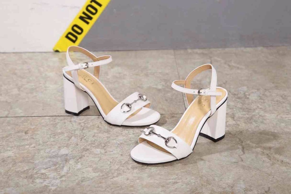 Summer new high-heeled women's sandals, upper imported leather, padded feet with imported sheepskin, wear-resistant rubber sole,