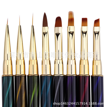 by dhl or ems 8 Style Eye Stripes lines liner Painting liquid Powder Acrylic UV GEL Extension Nail Art Drawing Brush hot