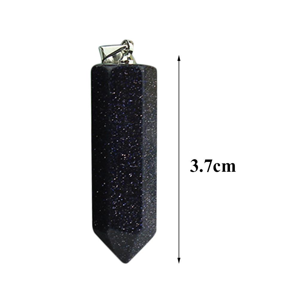 5 teile / los Natürliche Fluorit Charming Mode Halskette Anhänger Edelstein Schmuck Hexagonal Steinsäule Kristall Zufällige Farbe C19041101