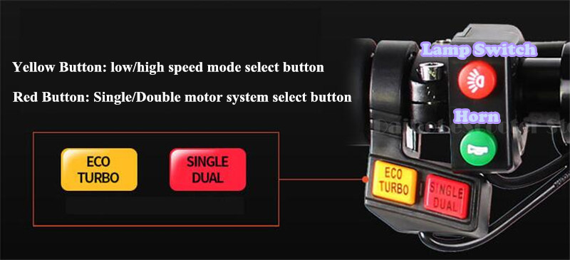 UBGO 1005 60V52V 2000W Double Drive Folding Electric Scooter (16)