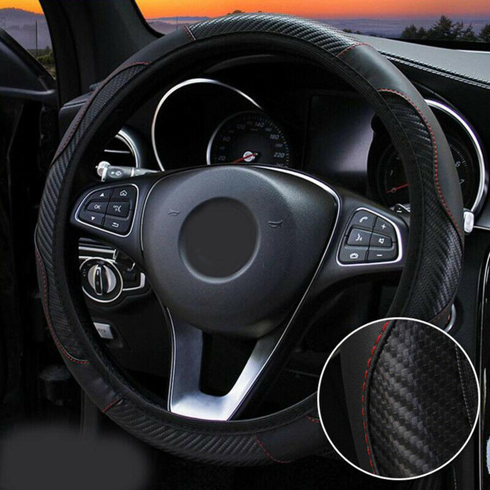 STEERING WHEEL COVER TO FIT A LEXUS RC CARBON FIBER LOOK R1 BLACK i