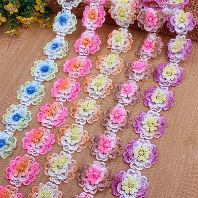 4 mm perle perline Stringa da cucire Trim Cake Craft Nuziale fai da te Wedding Decor 1 METRI