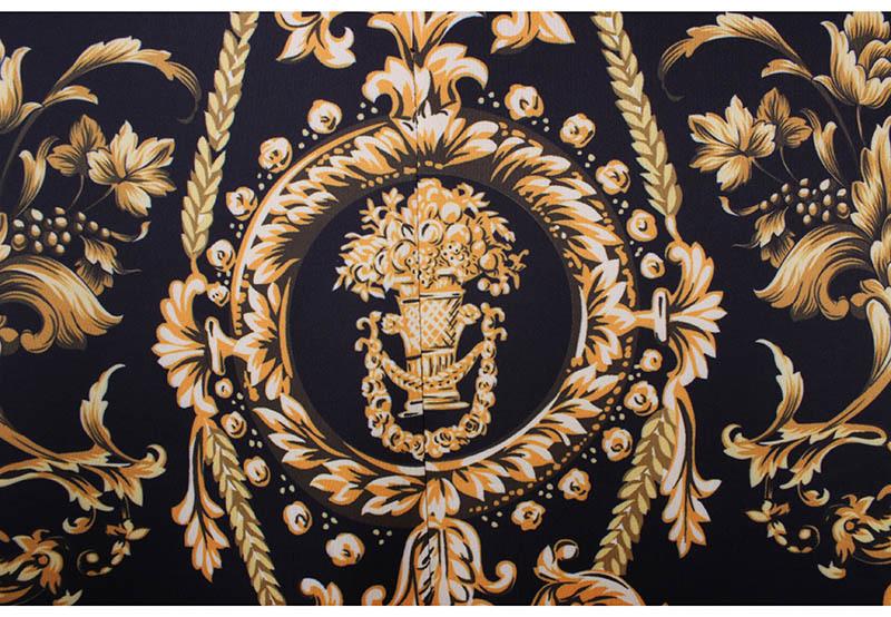Western Gorgeous Golded Floral Print Women Pencil Skirts M-xxl Fashion Ladies Bodycon Saias Girls Faldas Slim Bottoms C19041601