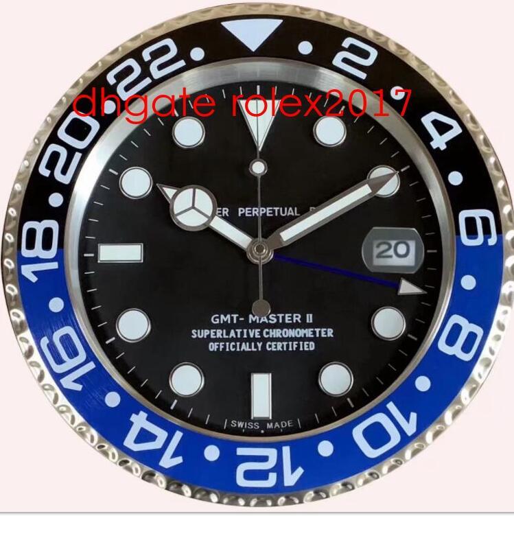 12 Style Quality Brand Watch Clock Wall Clocks 34CM 5CM 1.5KG Quartz Movement For Model 116613 116710 116610 Clock Watches Clocks new