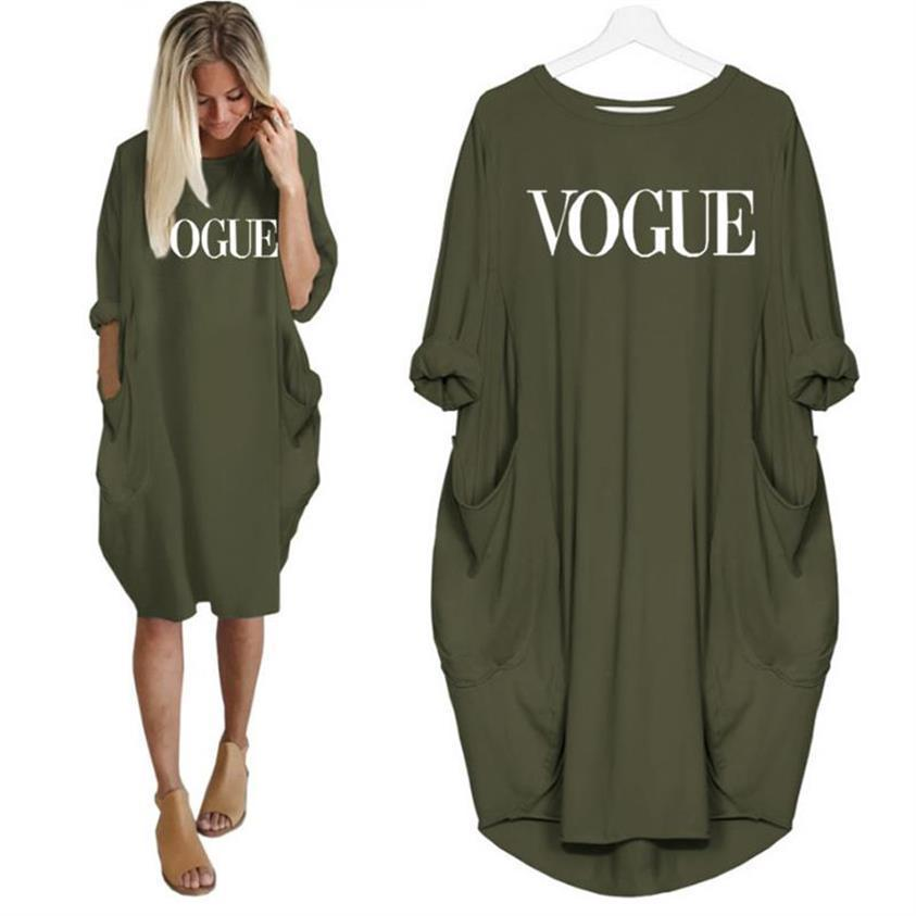 2019 New Fashion Vogue Letters Stampa T-Shirt donne Pocket Top Tshirt T-Shirt Ritagliate Graphic Tees Donna Streetwear Donna Y19051104