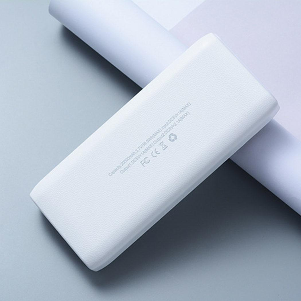 20000 mAh Ultra-thin Portable Power Bank USB Data Cable Emergency PowerBank 2.1A Charger Simple For Xiaomi MI iPhone X Note 8