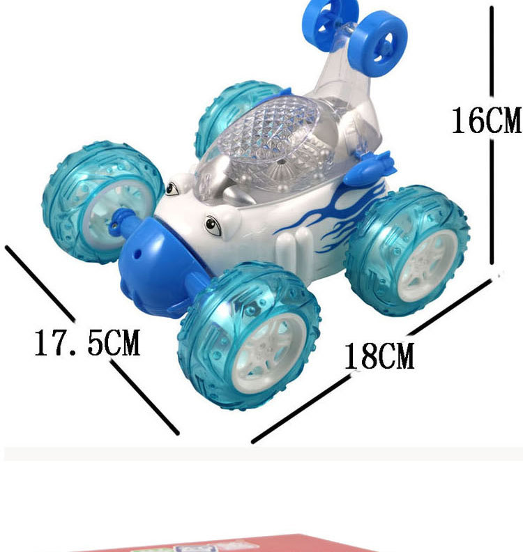 Music Toy Car Universal Tricycle Model Stunt Battery Powered Gift For Kids Home
