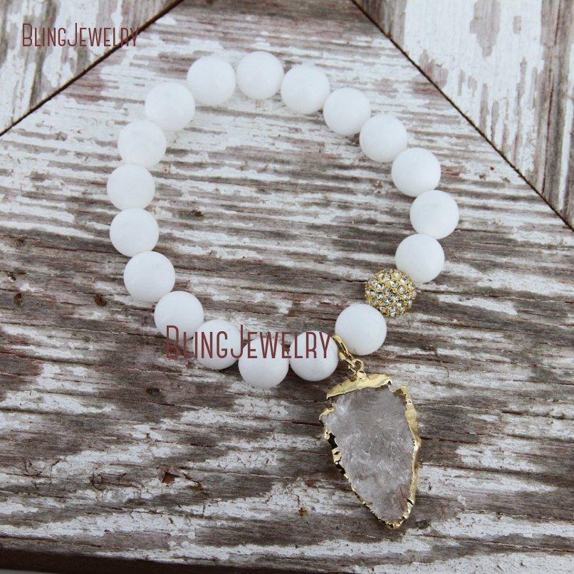 20181201-BM17426-Latest Arrowhead Clear Crystal Bracelet On Sale_32