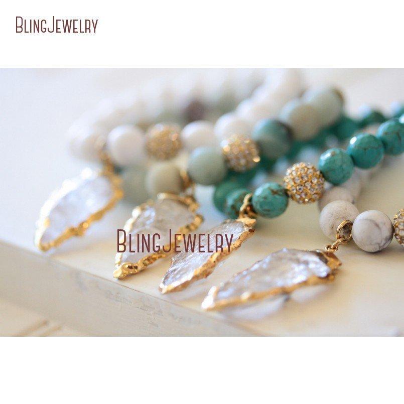 20181201-BM17426-Latest Arrowhead Clear Crystal Bracelet On Sale_23