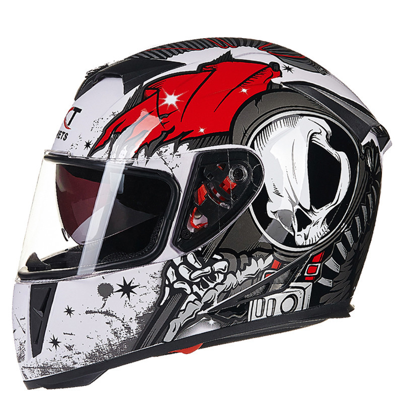 GXT 160 Motorcycle Flip Up Helmet Double Lens Full Face Helmets Moto Casco