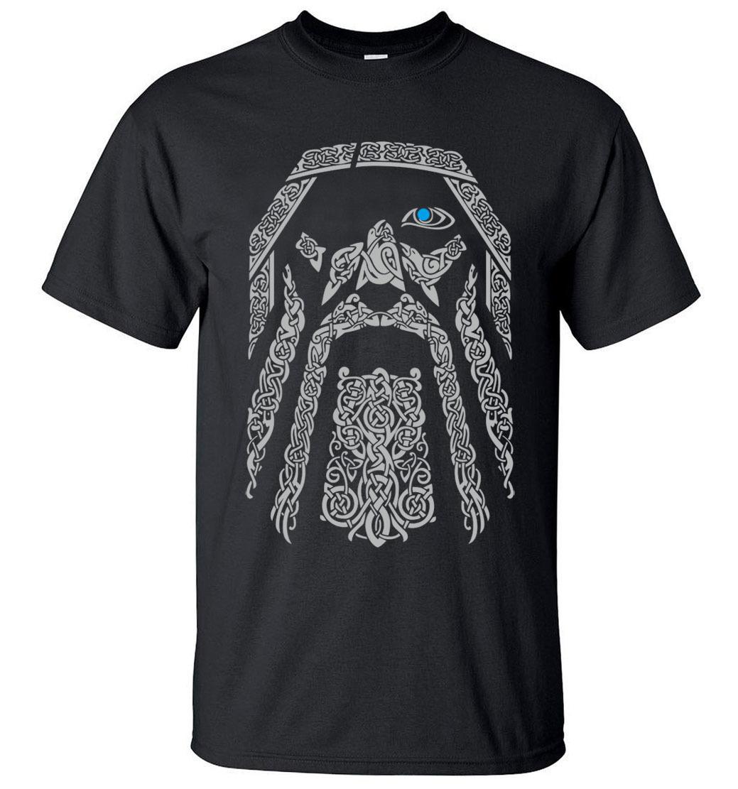 HotSale Odin Vikings T-ShirtMen 2019Summer Round Neck T-Shirts 100% CottonMen