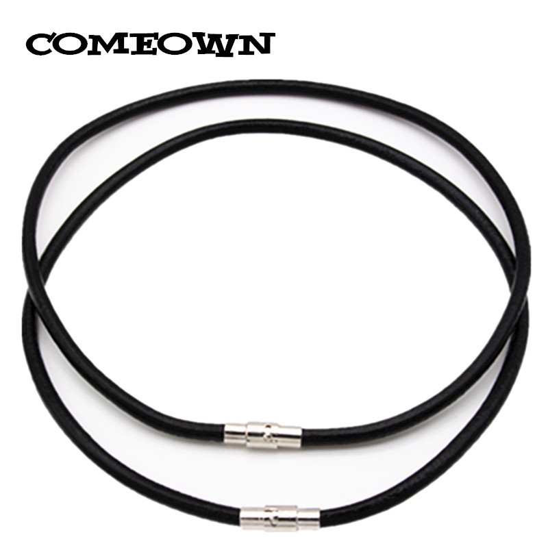 2pcs Polished Magnet Stainless Steel Clasp 6mm Leather Braided Choker Necklace
