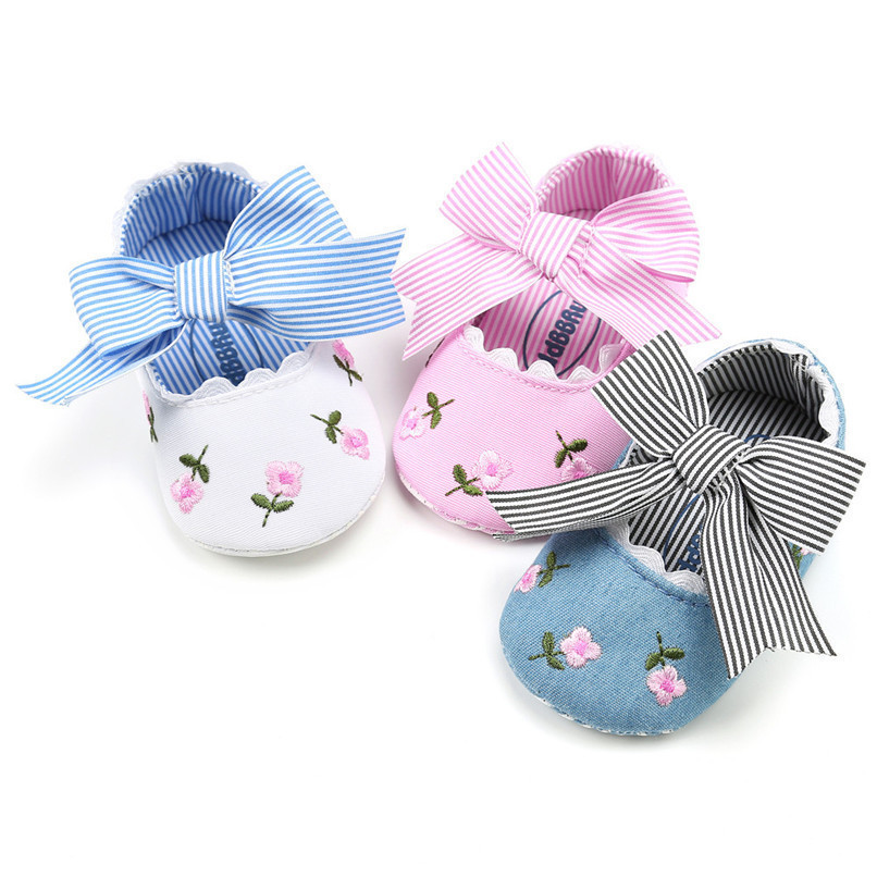 3 Color Baby Girl Shoes Toddler Kids Fashion Embroidery Flower Butterfly-knot First Walkers Kids Shoes NDA84L23 (3)