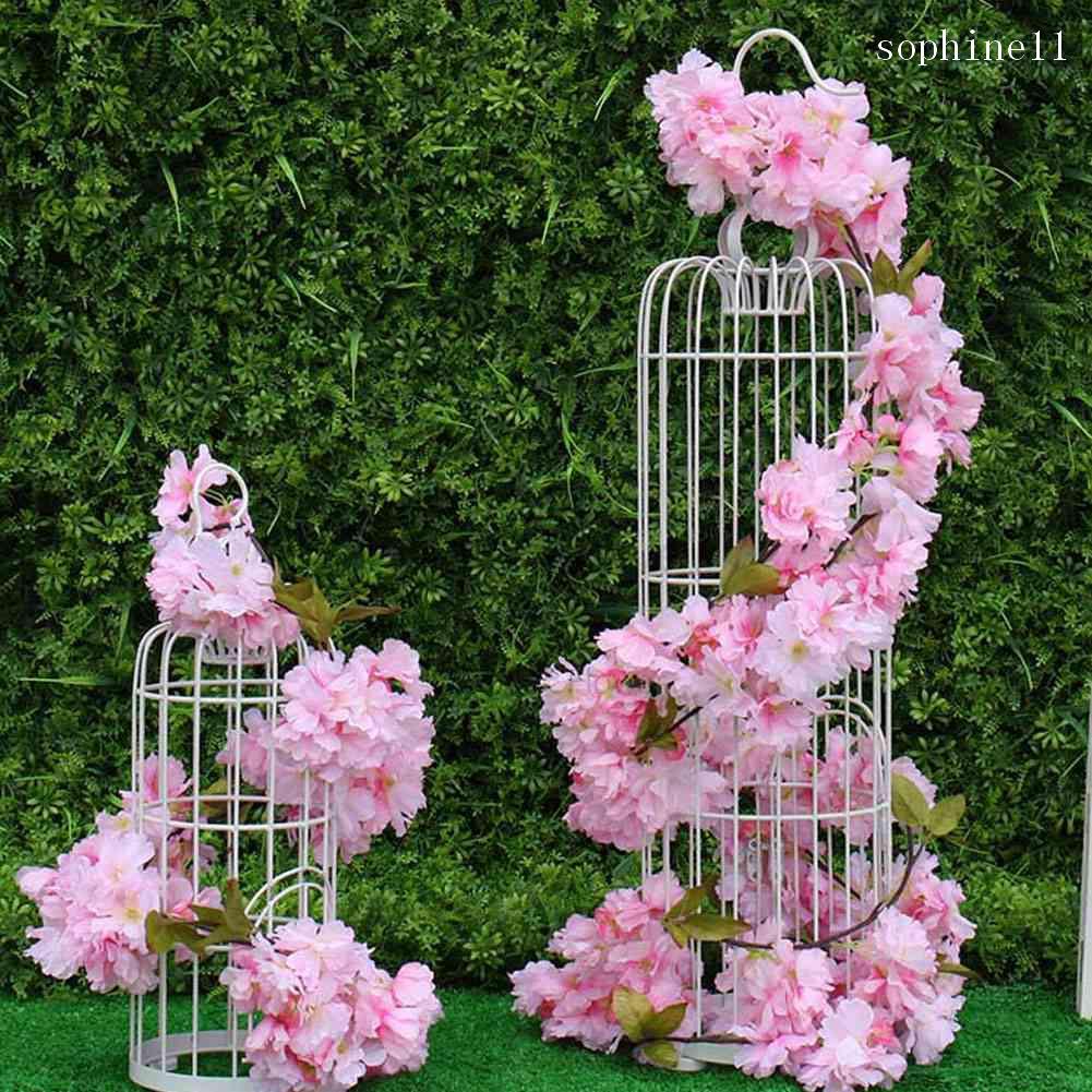 92cm Kirsch Kunstblumen Seidenblumen künstliche Kirschblütenzweig weiss