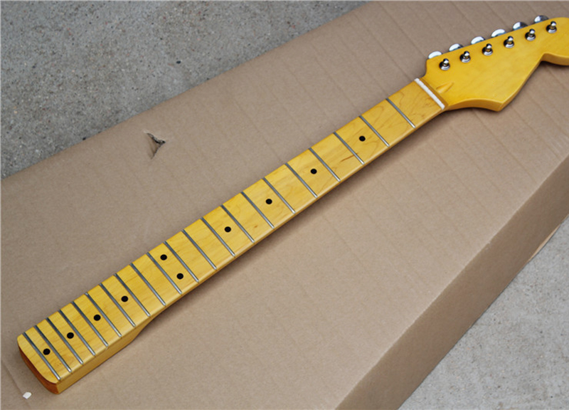 Wholesale Custom Electric Guitar Yellow Maple Neck with Retro Tuner,21 Frets,Maple Fretboard,offering customized services