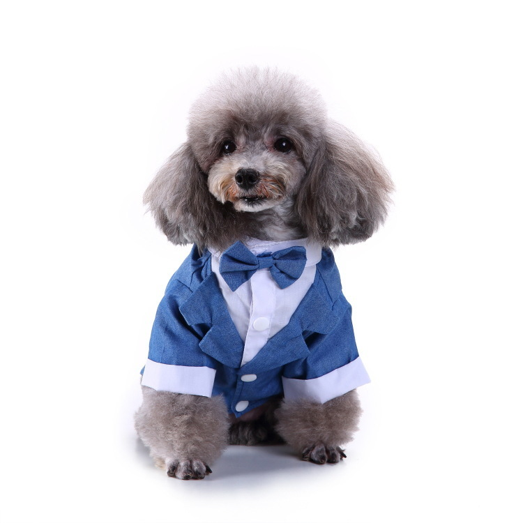 Pets Clothes Dog Apparel Fashion Suit Dogs Clothes Full Dress Swallowtail Wedding Full Dress Pet Supplies Costume Clothing 6.5