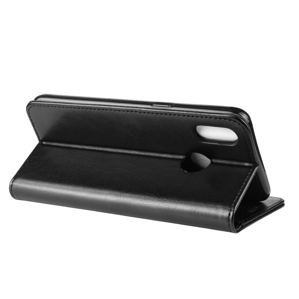 OPPO Realme 3 mobile phone shell Realme 3 protective sheath Mad horse print flip-over type anti-falling mobile phone leather sheath