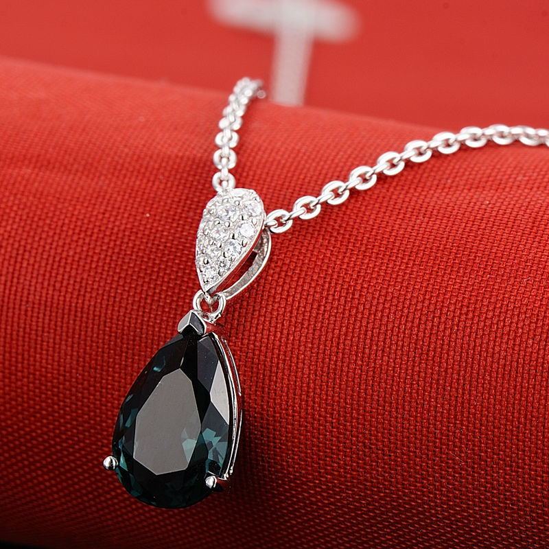 Pendant Necklace - P303468BLGZ1SL925-SV10