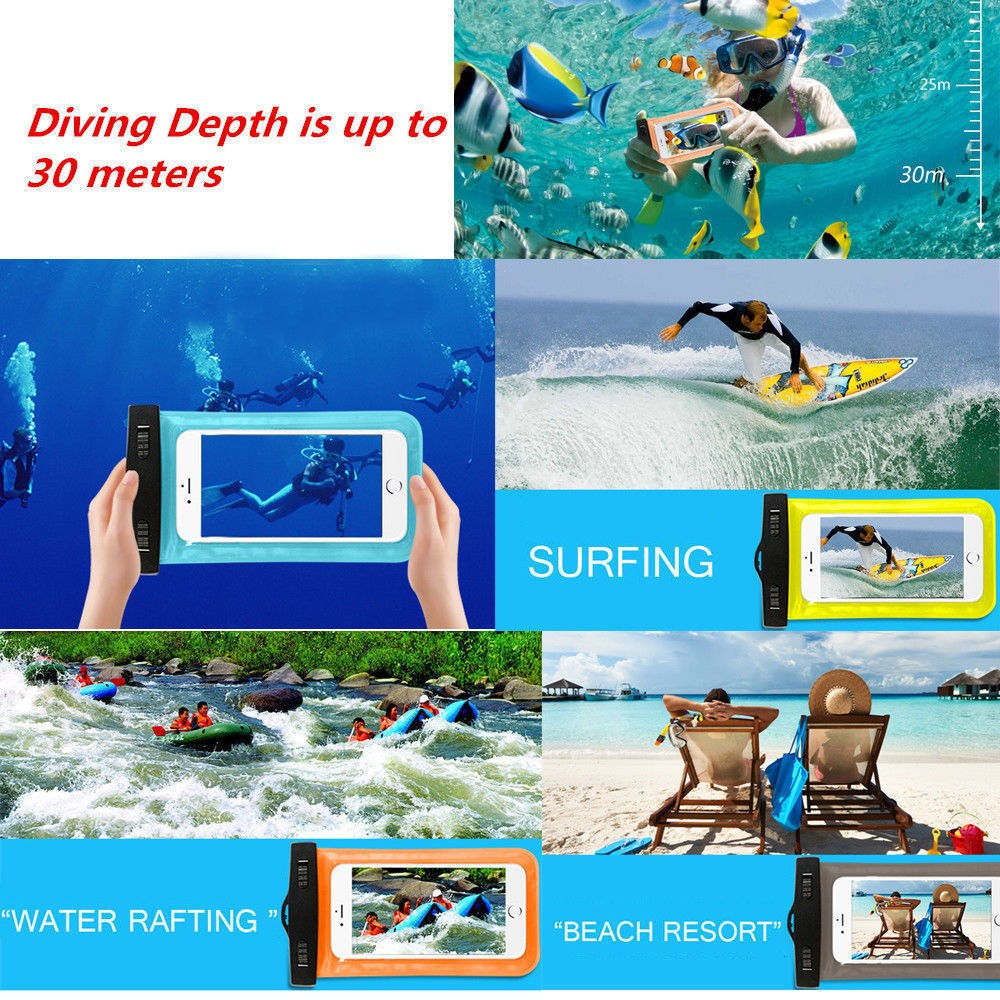 Universal Swimming Case Waterproof phone pouch With Watertight Earphone Drawstring Bags Against Water Jack for Up To 5 Inch8