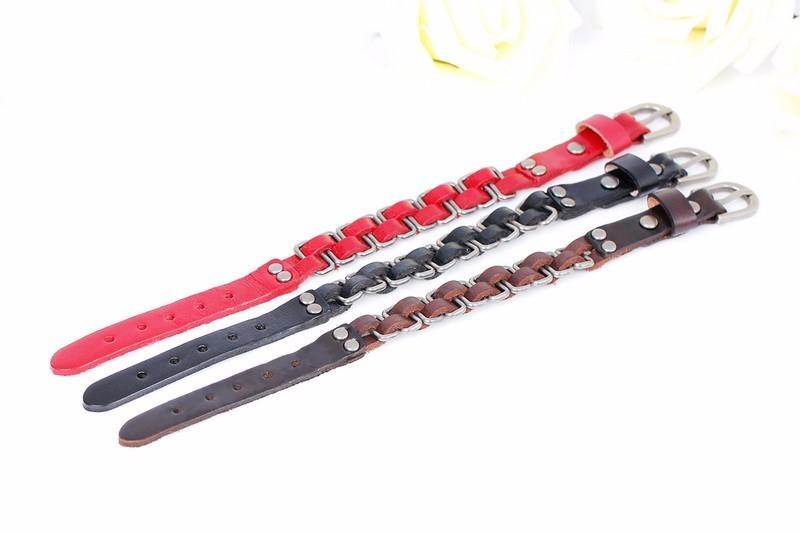2019 neue marke mode bandagen handgestrickte leder herren armbänder hohe qualität mehrschicht freundschaft charme armbänder.