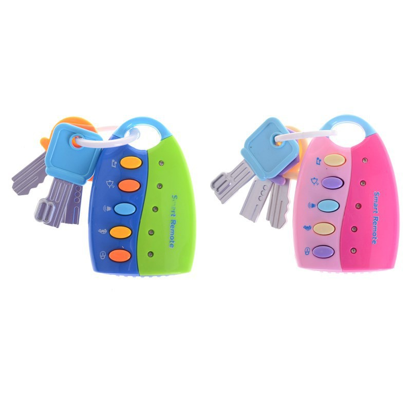 Baby Musical Smart Remote Car Key Toy Car Voices Pretend Play Education Toys JT