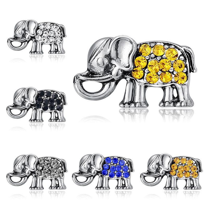 Nouveau bijoux en argent éléphant Clair Cristal Strass Broche Pin Party Decor Cadeau