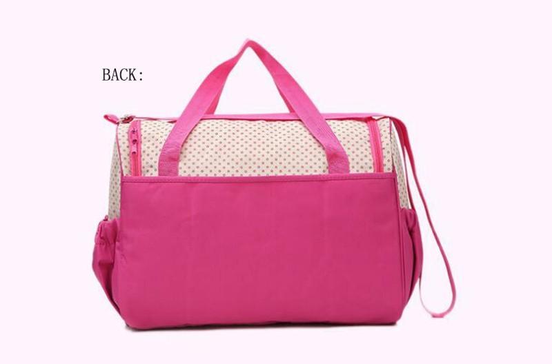 CROAL CHERIE 381830cm5pcs Baby Diaper Bag Sets changing Nappy Bag For Mom Multifunction Stroller Tote Bag Organizer (6)