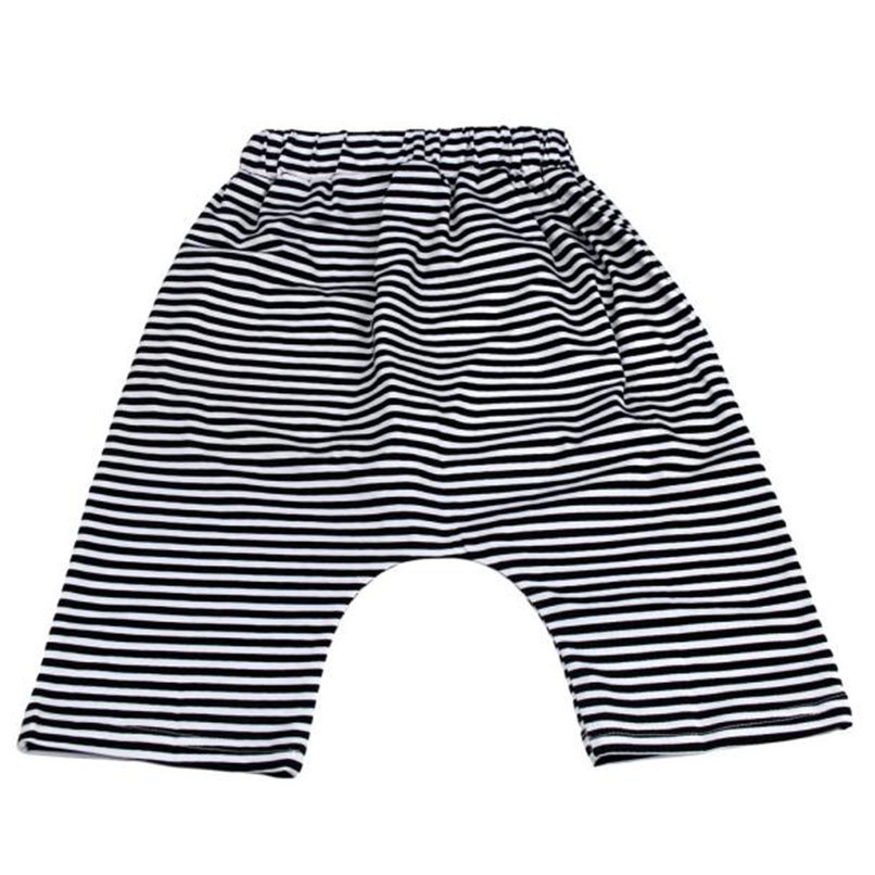 Summer Boys Shorts Kids Baby Boys Striped Print Harem Pants Bloomers Baby Shorts Suit For 2-6T Baby M8Y09 (4)