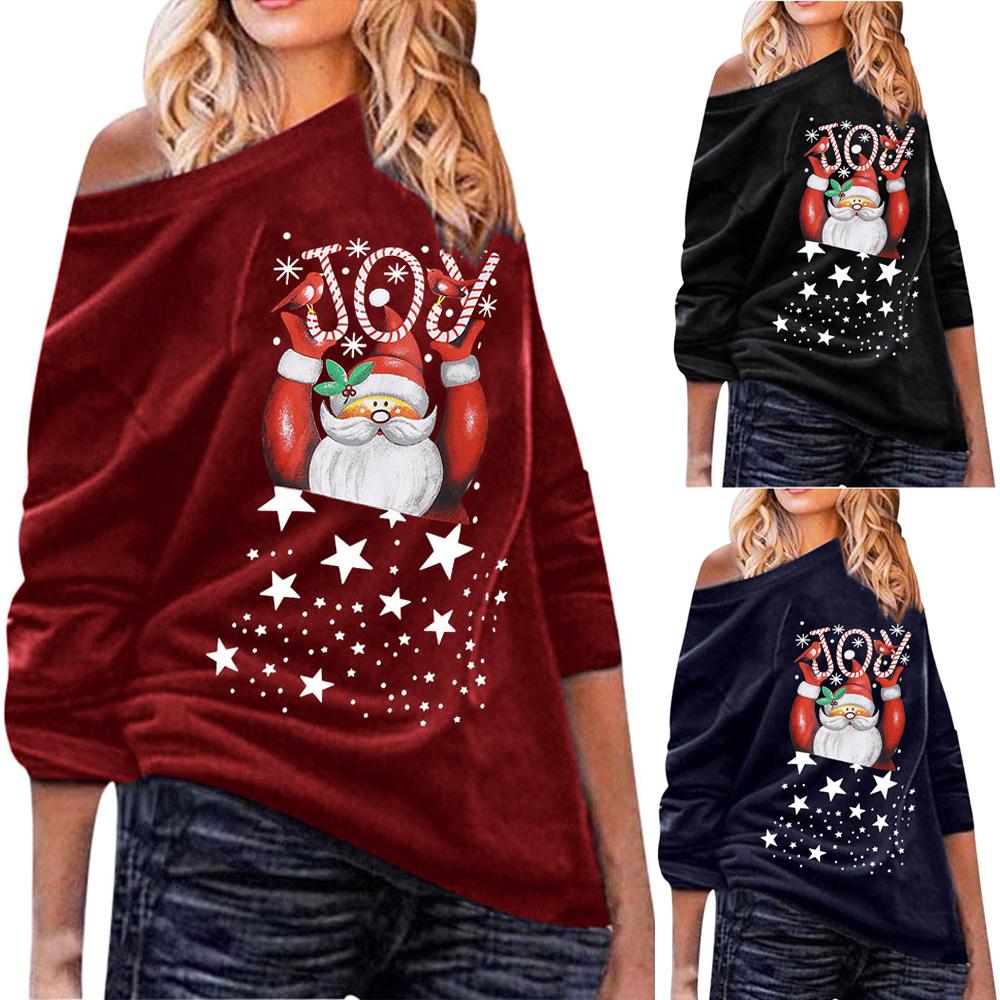 Womens Crew Neck Cap Sleeve Ladies Xmas Santa Costume Christmas Jersey T Shirt