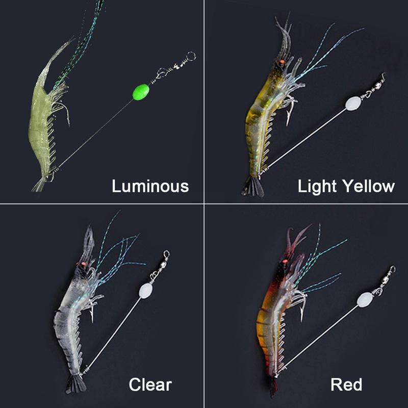 Künstliche Tintenfisch Jig Haken Bionics hölzerne Garnelen Garnelengarnele
