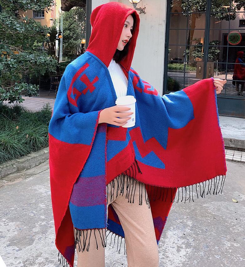 Chic Women High-end Handwork beading 100/% wool cape Scarf