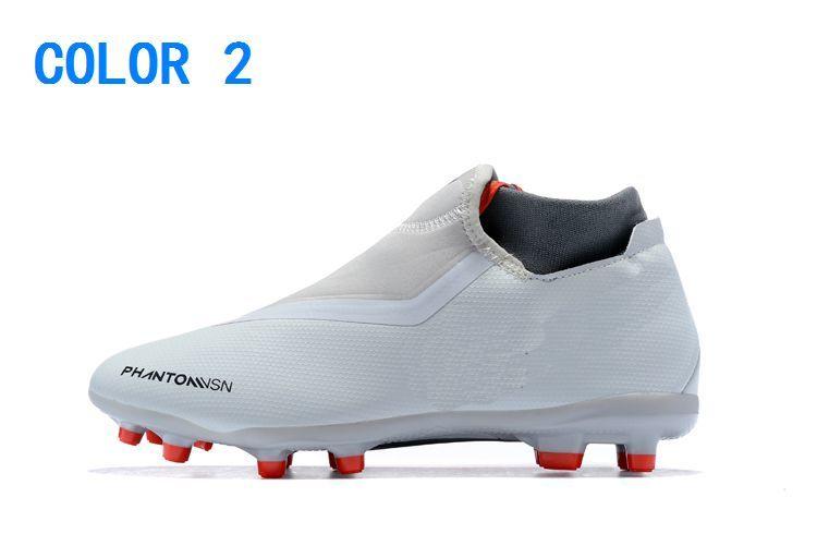 Trasporto I Uomo Scarpe Tacchetti Calcio Phantom Vision Elite DF FG di calcio di alta della caviglia Uomini Scarpe da calcio Chuteiras