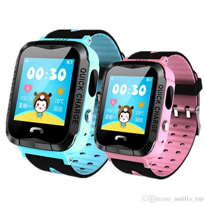 IP67 Wasserdichte V6g Smart Uhr Gps Tracker Monitor Sos Anruf Mit Kamera Beleuchtung Baby Schwimmen Smartwatch Für Kinder Kind
