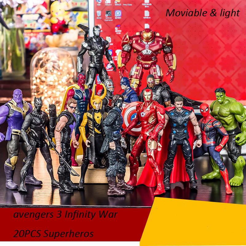 20pcs//set Neu Avengers Infinity War Figuren als Marvel Actionfigur Spielzeug