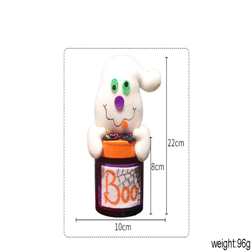 Creativa Partido decoración de Halloween Fantasma lindo de la caja de regalo bruja de la calabaza grande de la caja del gato caramelo de la boca del tarro decoración de Halloween Props