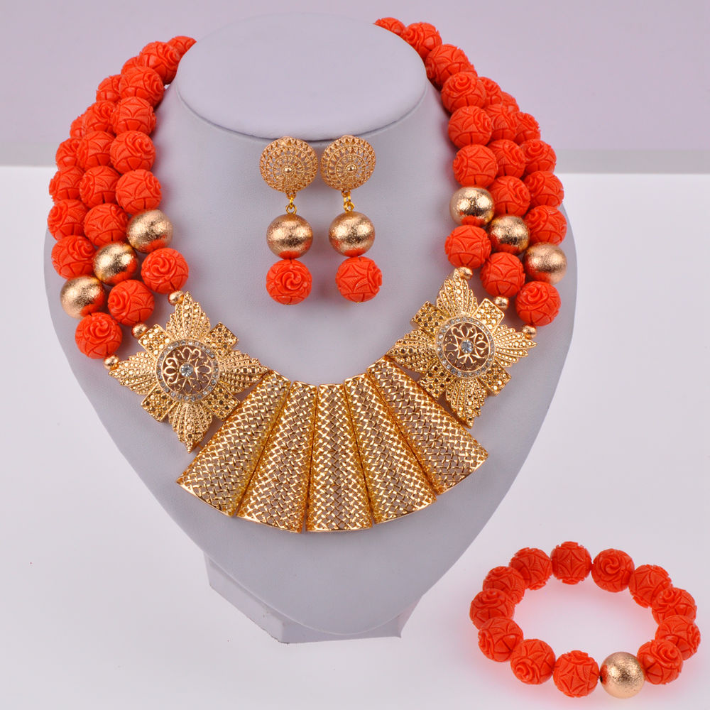 Orange Artificial Coral Beads-02-170 (8)