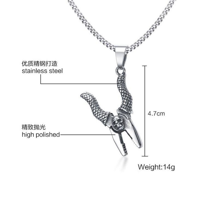 4.7CM stainless steel pincer pliers Men's pendant personality sliver color high polished pincer pliers pendant boy jewelry gift